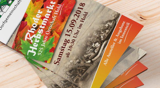 Rhoder Herbstmarkt – Alle Aussteller und Rahmenprogramm