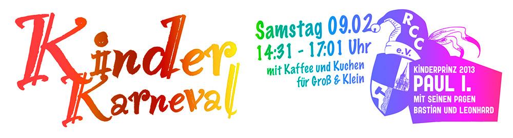 Kinderkarneval am Sa, 09.02. von 14:31 bis 17:01 Uhr